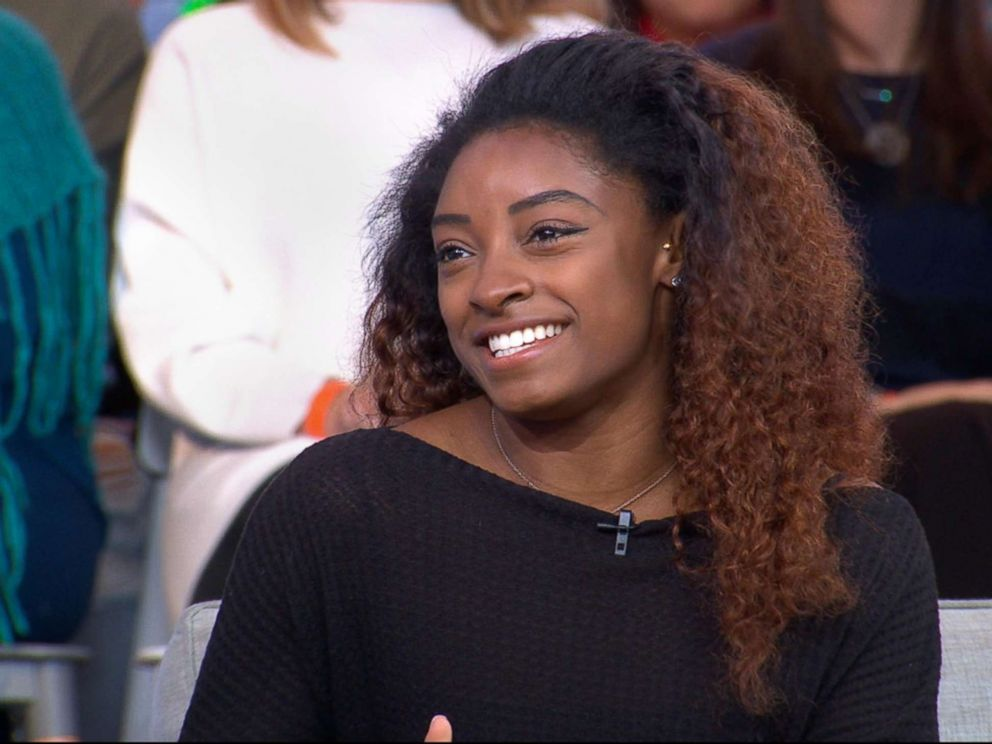 PHOTO: Gymnast Simone Biles appears on Good Morning America, Dec. 11, 2018.