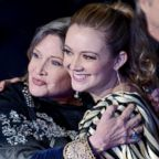 "Carrie Fisher and her daughter Billie Lourd arrive for the premiere of ""Star Wars: The Force Awakens"" on Dec. 14, 2015, in Hollywood, Calif."