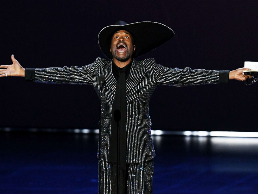 PHOTO: Billy Porter accepts the Outstanding Lead Actor in a Drama Series award for Pose onstage during the 71st Emmy Awards at Microsoft Theater on September 22, 2019 in Los Angeles, California.