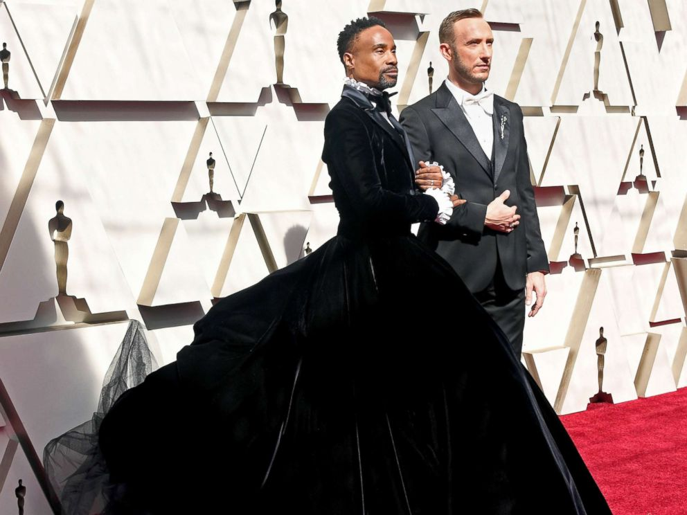PHOTO: Billy Porter and Adam Smith walk the red carpet ahead of the 91st Annual Academy Awards, Feb.24, 2019 in Hollywood, Calif.