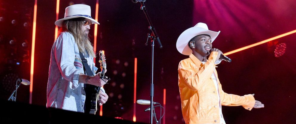 PHOTO: Billy Ray Cyrus and Lil Nas X at the CMA Fest in Nashville, Tenn, June 8 2019.