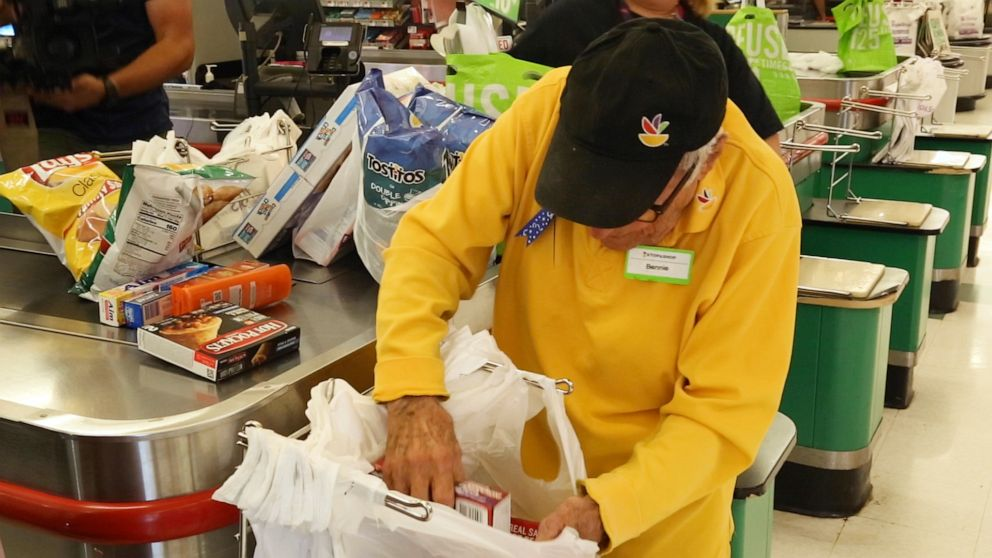 PHOTO: Bennie Ficeto has worked at Stop & Shop for 10 years as a bagger.