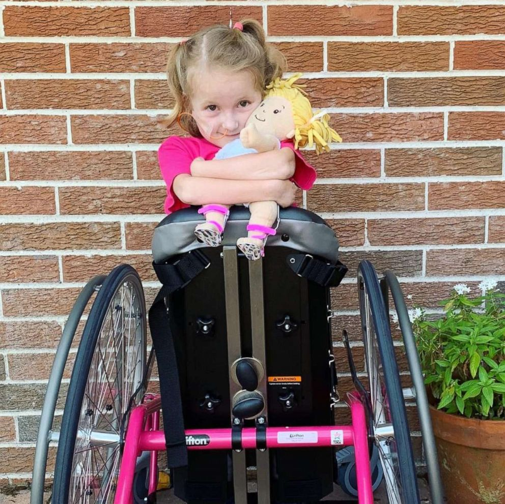 PHOTO: Anna Hopson, 5, has a progressive neuromuscular disorder called Charcot-Marie-Tooth disease.