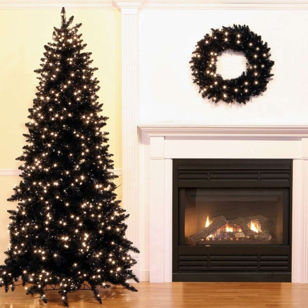 black christmas trees are a hot holiday decorating trend really abc news black christmas trees are on trend this holiday season