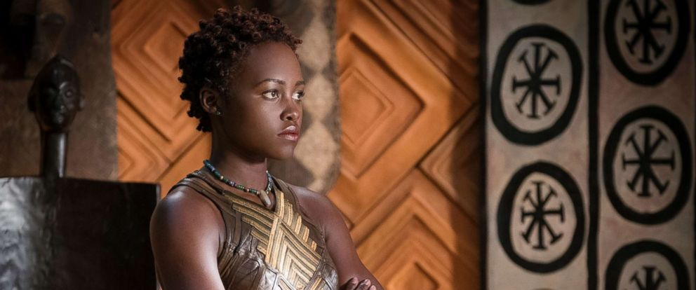 "PHOTO: Lupita Nyongo in a scene from ""Black Panther."""