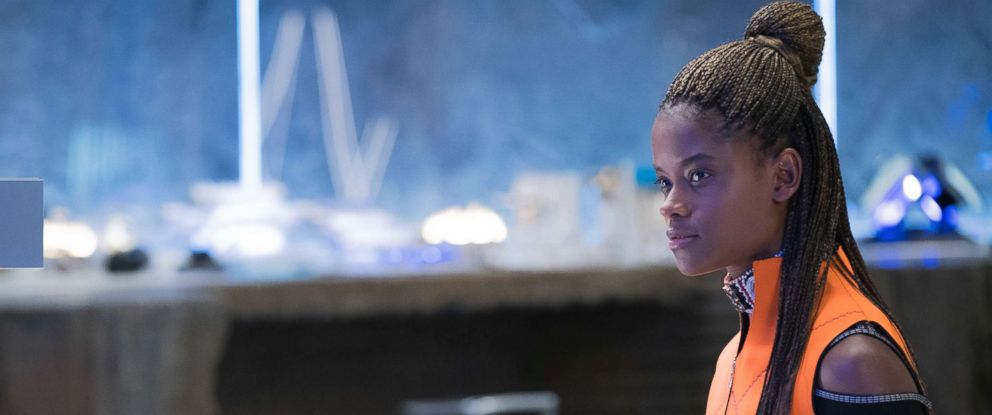 """PHOTO: Lettia Wright in the movie """"Black Panther."""""""