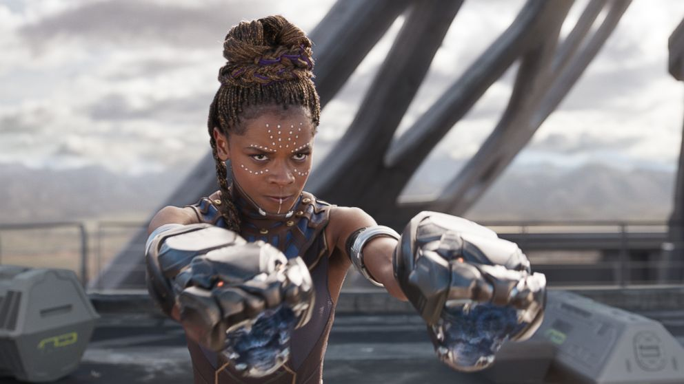 """Lettia Wright in the movie """"Black Panther."""""""