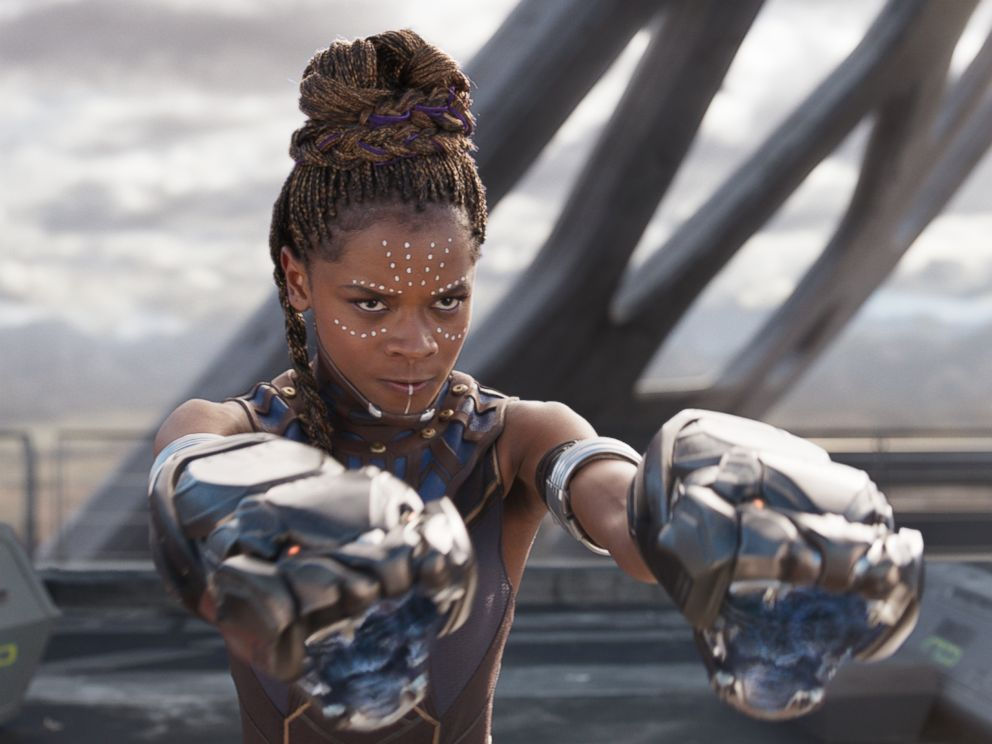 PHOTO: Lettia Wright in the movie Black Panther.