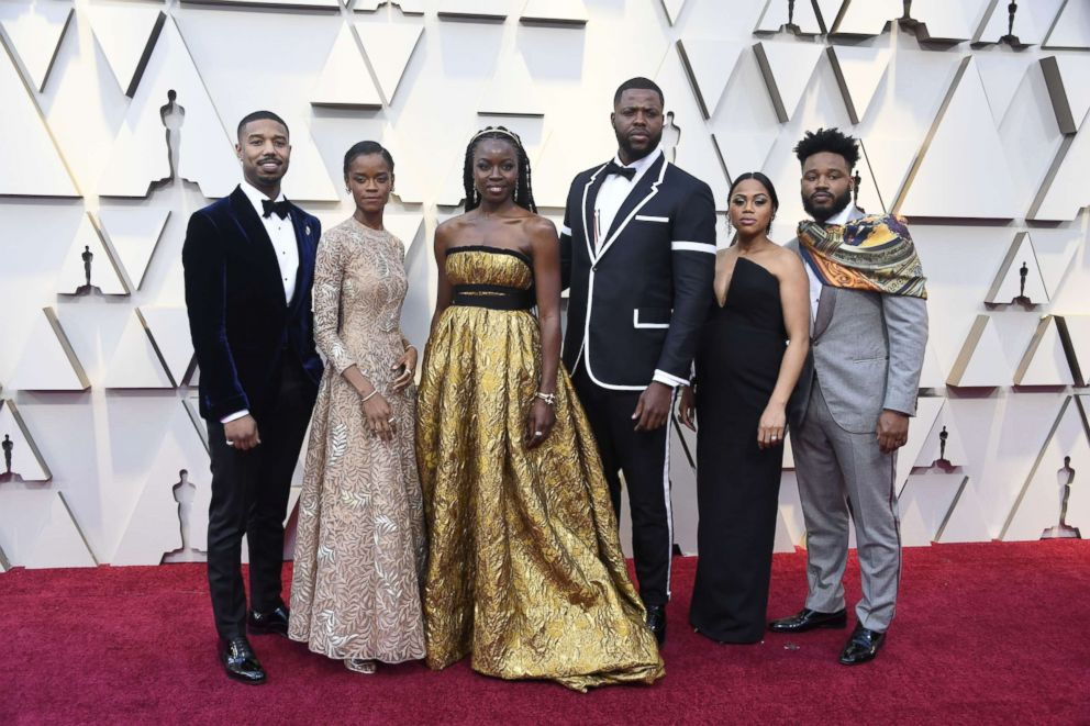 Black Panther' cast steps out in style on the Oscars red carpet