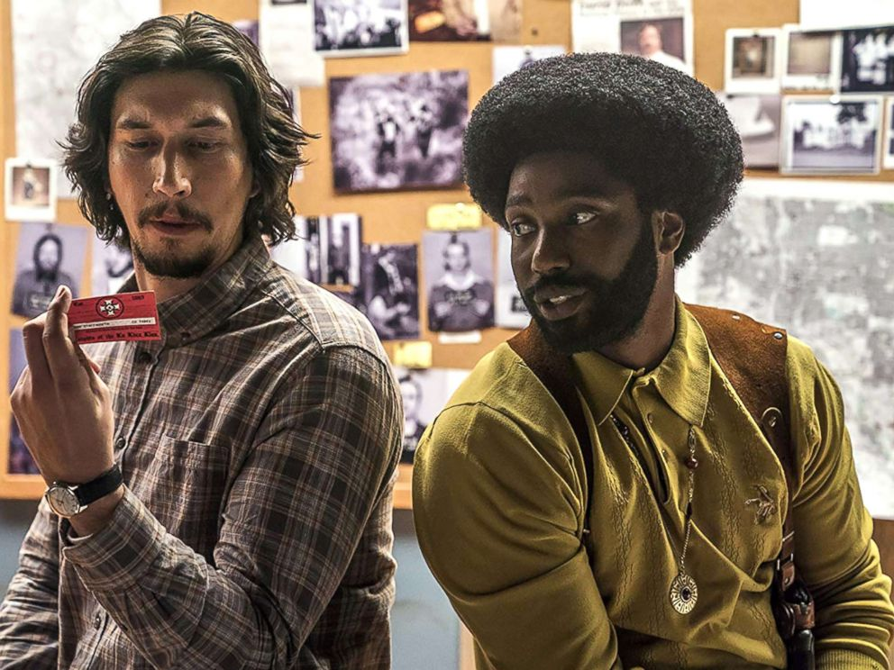 PHOTO: John David Washington and Adam Driver in a scene from BlacKkKlansman.