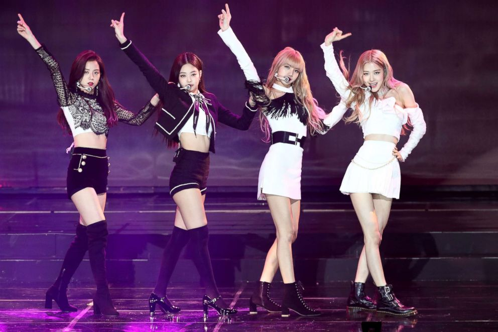 Girl group BlackPink performs on stage during the 8th Gaon Chart K-Pop Awards on Jan. 23, 2019 in Seoul, South Korea.
