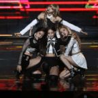 Girl group BlackPink performs on stage during the 8th Gaon Chart K-Pop Awards, Jan. 23, 2019, in Seoul.