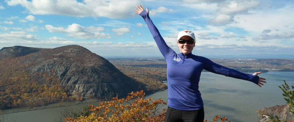 PHOTO: ABCs Blair Shiff poses for a photo while hiking Breakneck Ridge in Cold Spring, N.Y., in November 2016.