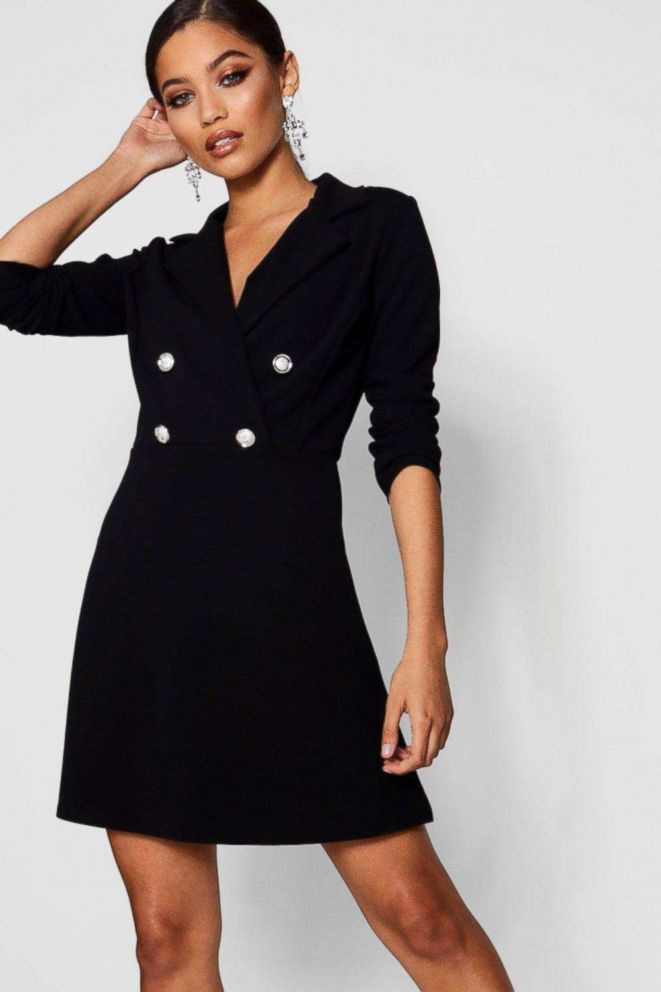 PHOTO: Blazer Dress With Military Buttons