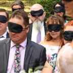 Stephanie Campbell, who lost her vision by the age of 29, recently married Robert Campbell in Australia where she asked her wedidng guests to wear blindfolds.