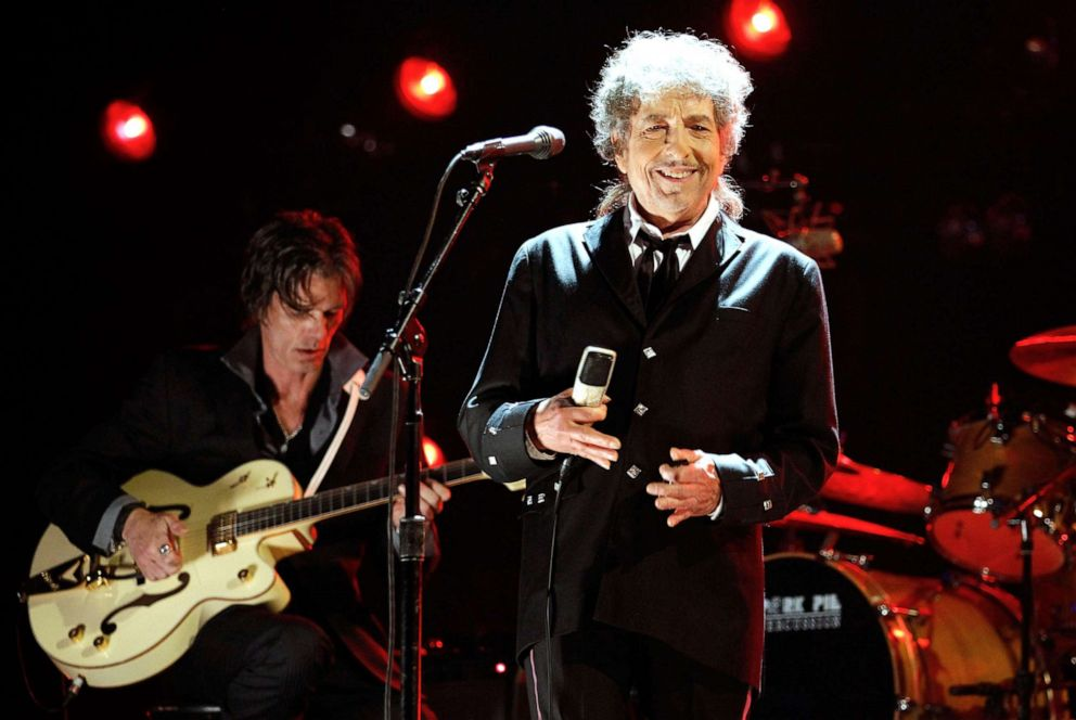 PHOTO: Bob Dylan onstage during the 17th Annual Critics Choice Movie Awards held in Los Angeles, Jan., 12, 2012.