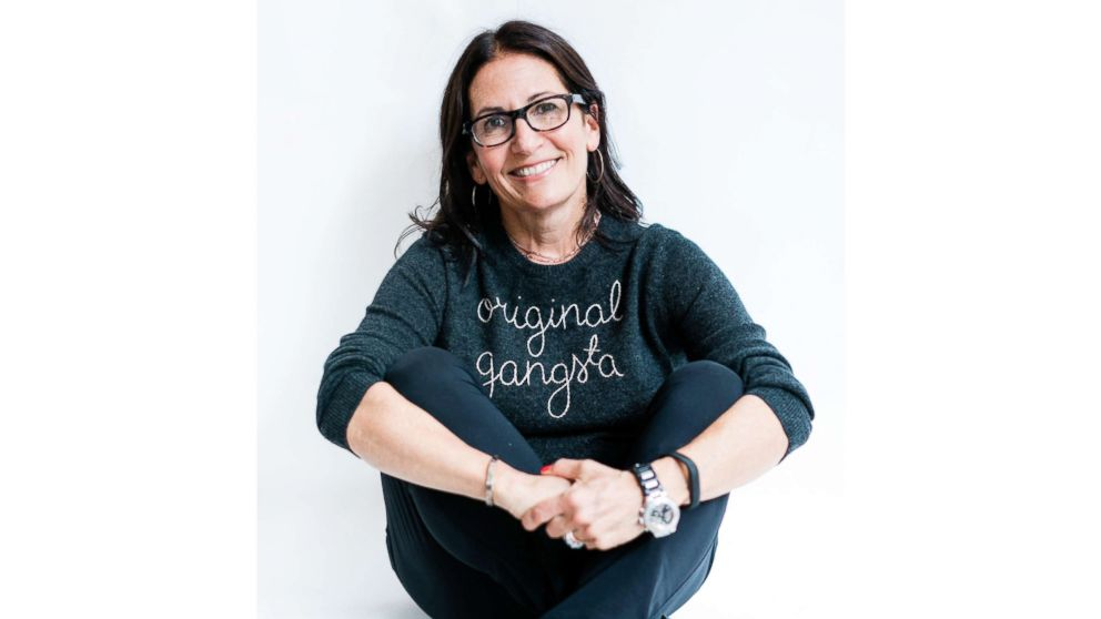 Bobbi Brown poses for a photo wearing GREATS sneakers.