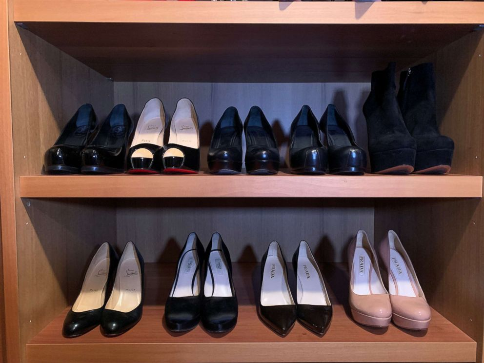 PHOTO: Bobbi Browns closet before her high heel clean out.