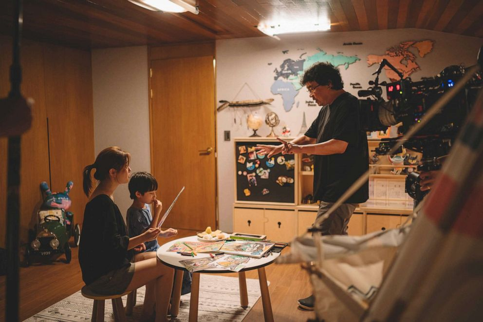 So-dam Park and Director Bong Joon Ho on the set of the film, 'Parasite.' So-dam Park and Director Bong Joon Ho on the set of the film, 'Parasite.'NEON