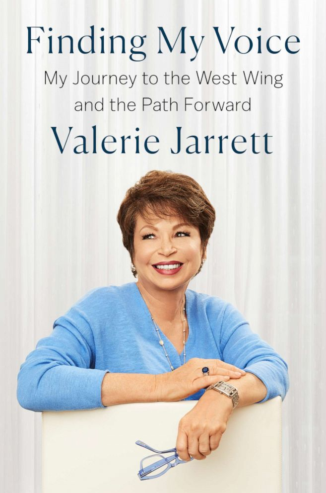PHOTO: Cover of the book, Finding My Voice by Valerie Jarrett.