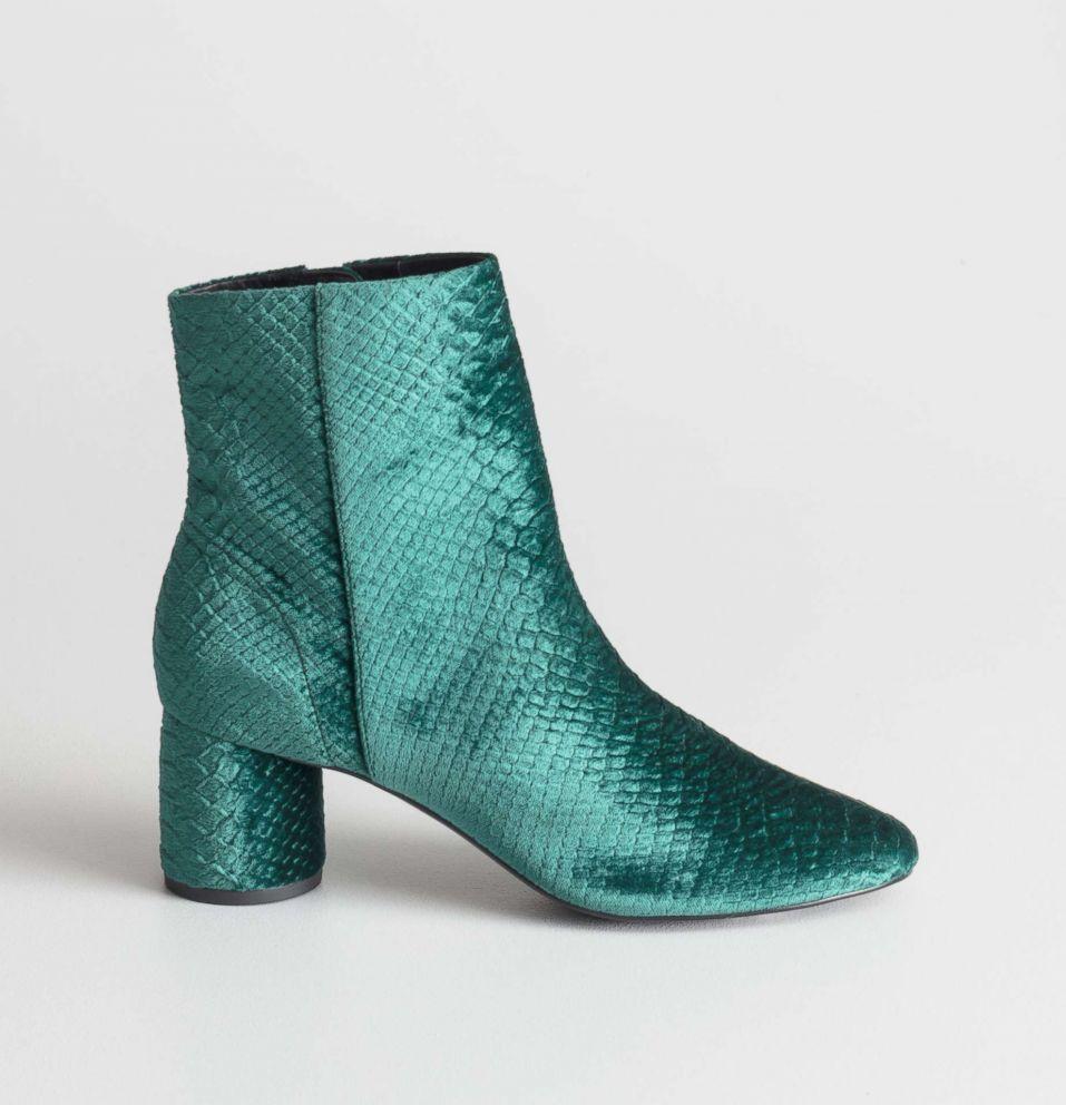 PHOTO: & Other Stories, Velvet Snake Ankle Boots