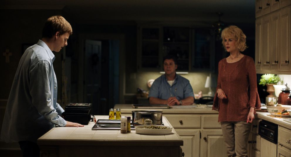PHOTO: Lucas Hedges, Russell Crowe and Nicole Kidman in a scene from Boy Erased.