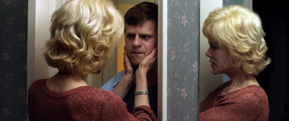 "PHOTO: Lucas Hedges and Nicole Kidman in a scene from ""Boy Erased."""