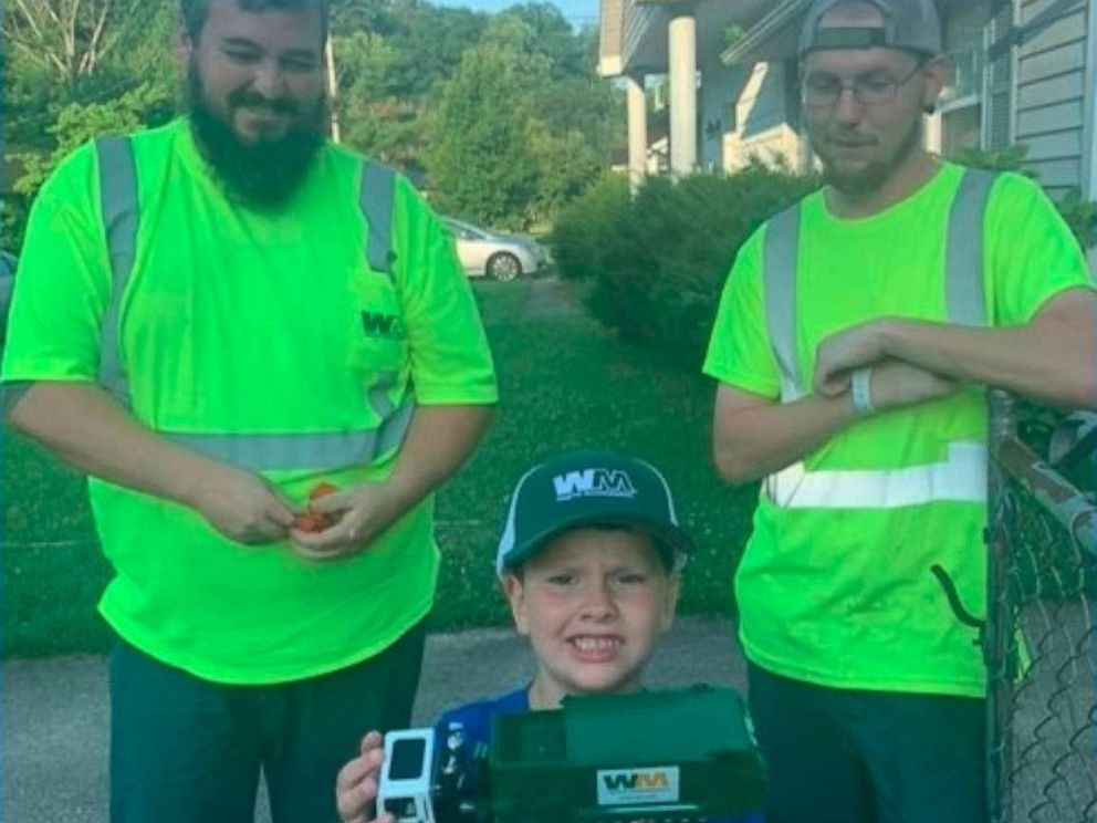 PHOTO: Noah Cooper, 6, has become a hometown celebrity thanks to his adorable friendship with a sanitation crew.