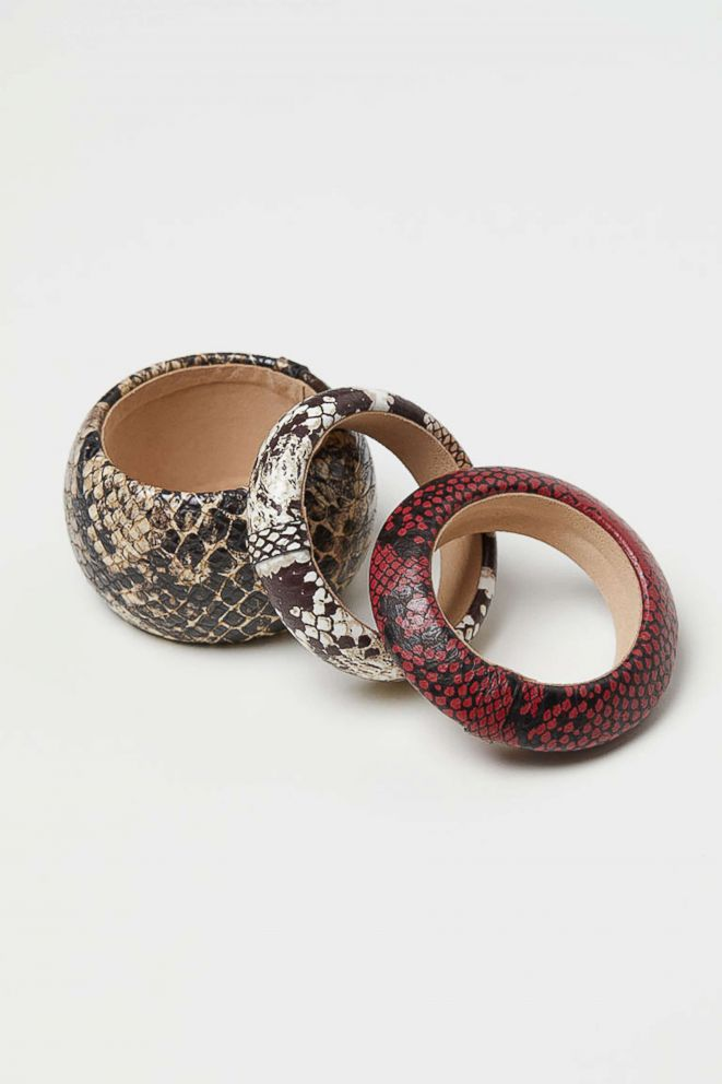 PHOTO: Style Hint: What could be easier and more fun than a set of snakeskin bangles? They add instant glamour to a your power suit or your weekend jeans. They also happen to make a great gift for a fashionable friend.