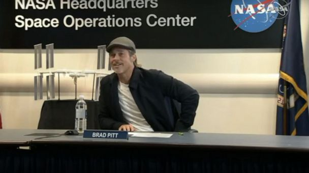 Brad Pitt's out-of-this-world interview with NASA astronaut on International Space Station