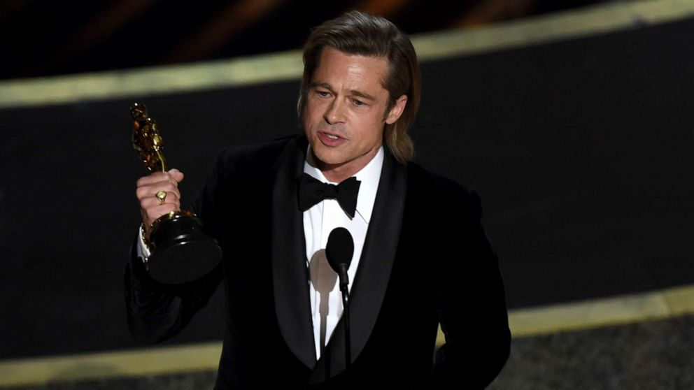 PHOTO: Brad Pitt accepts the award for Best Supporting Actor for 'Once upon a Time...in Hollywood' during the 92nd Oscars at the Dolby Theatre in Hollywood, Calif., Feb. 9, 2020.