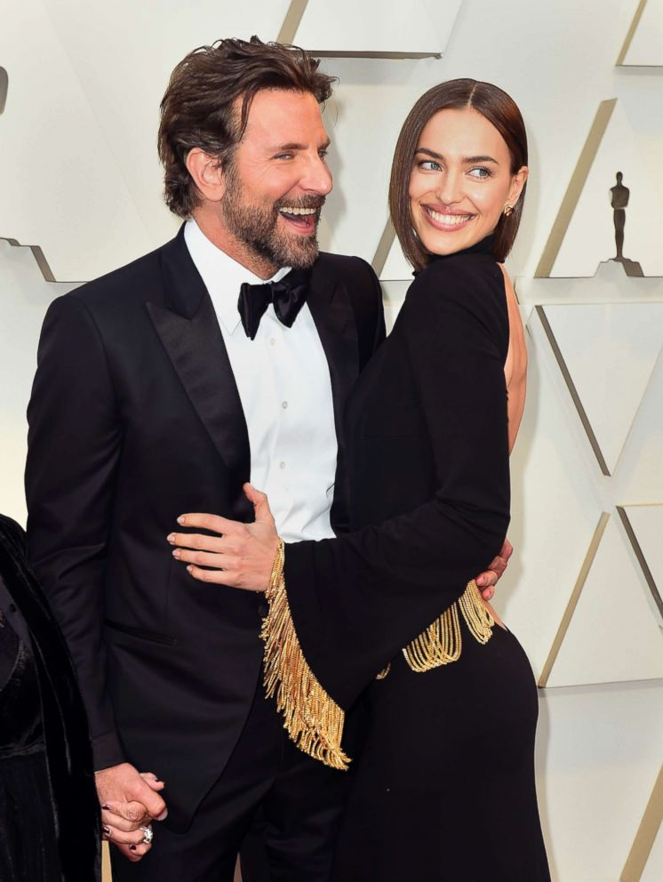 PHOTO: Bradley Cooper and Irina Shayk arrive at the Oscars, Feb. 24, 2019, at the Dolby Theatre in Los Angeles.