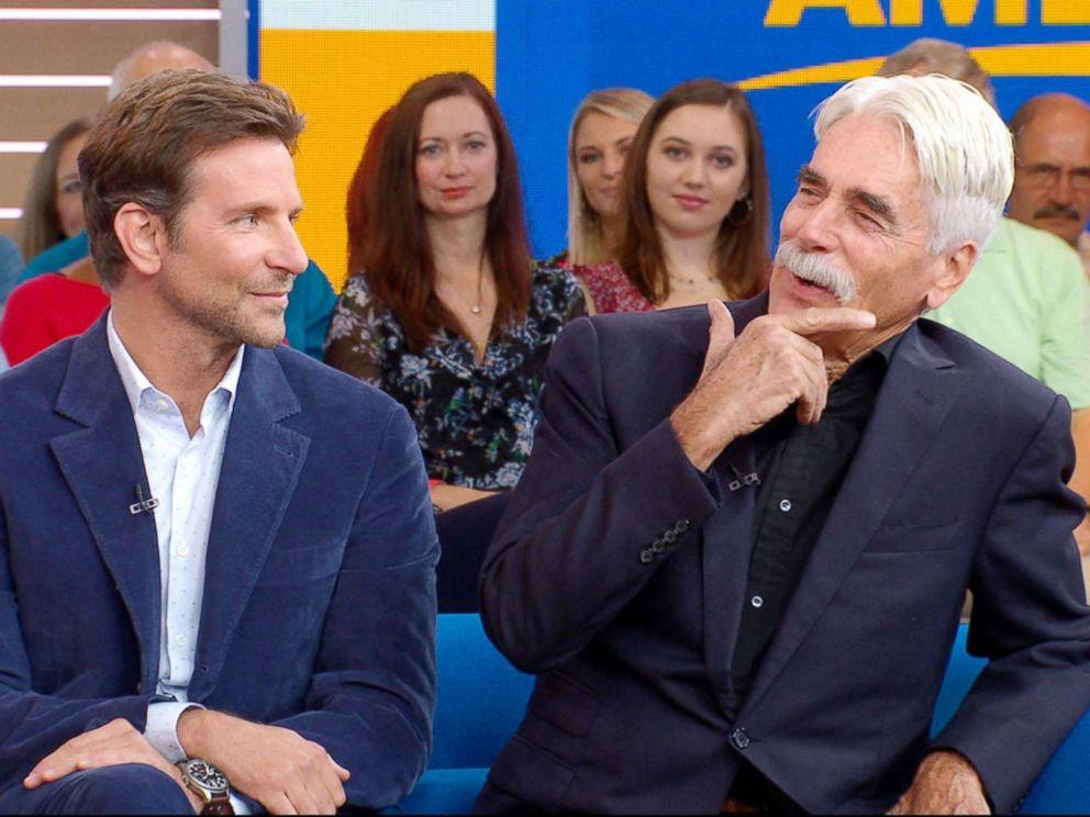 PHOTO: Bradley Cooper and Sam Elliott appear on Good Morning America, Oct. 3, 2018.
