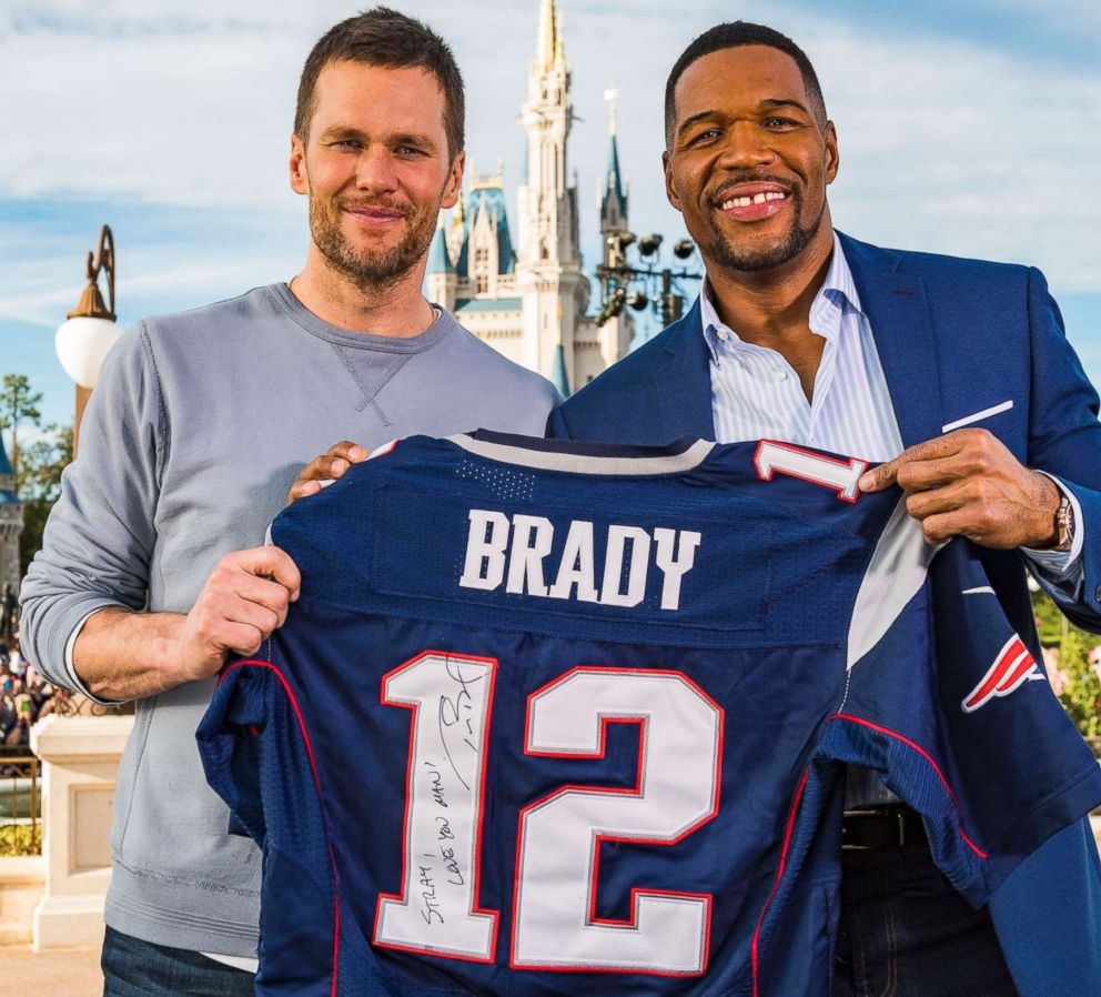 PHOTO: New England Patriots quarterback Tom Brady opens up in an interview with ABC News Michael Strahan at Walt Disney World.