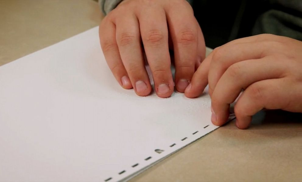 PHOTO: There is shortage of braille educators in the United States.