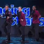 """Professional dancer Brandon Armstrong (second from right) on """"Dancing With the Stars."""""""