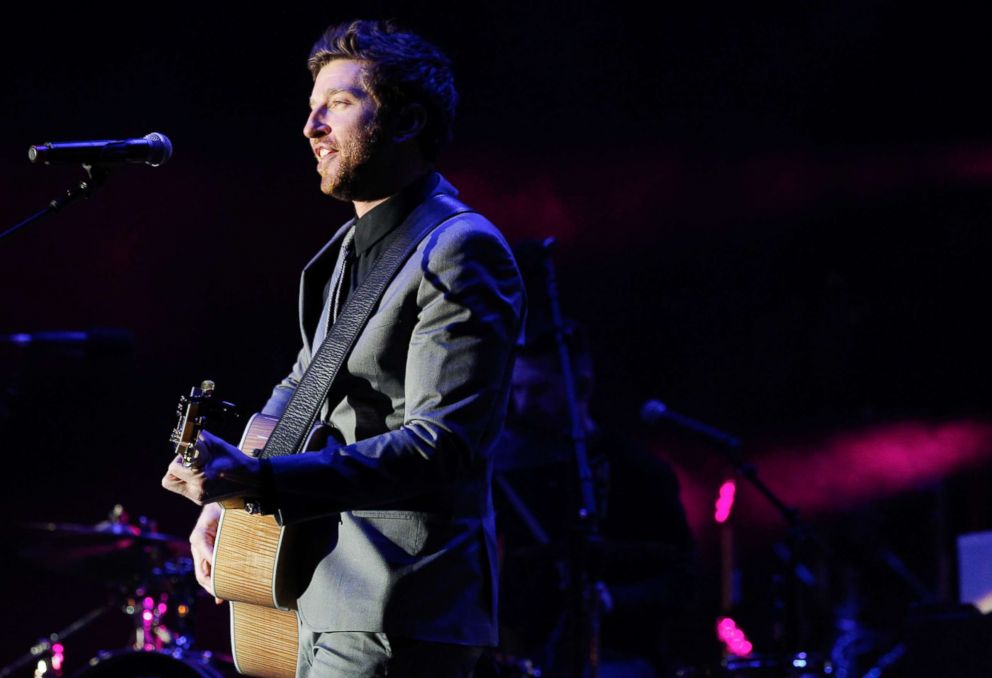PHOTO: Brett Eldredge performs at the Fifth annual New Years Eve Bash on Broadway in Nashville, Tenn., Dec. 31, 2013.