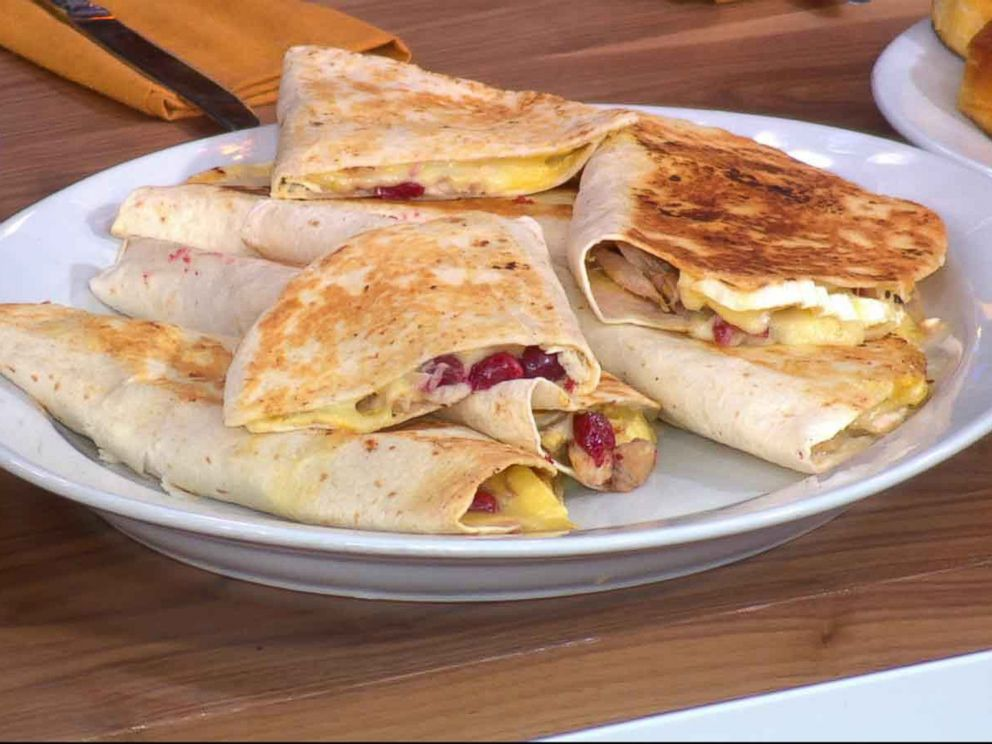 PHOTO: Brie and cranberry quesadillas are a perfect way to snack on your leftovers.