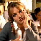 "Britney Spears in a screengrab from her music video ""Baby One More Time."""