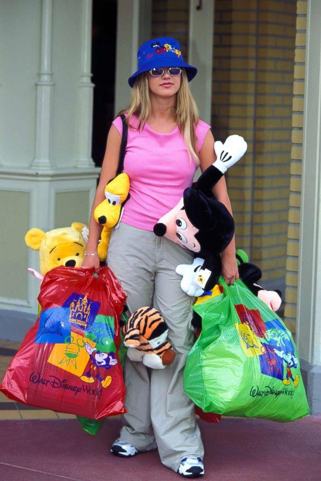 PHOTO: Britney Spears goes shopping at Walt Disney World in Orlando Fla., June 15, 1999.