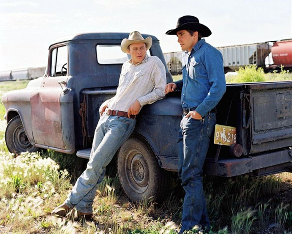 PHOTO: Heath Ledger (left) and Jake Gyllenhaal are shown in this still from the 2005 movie Brokeback Mountain.