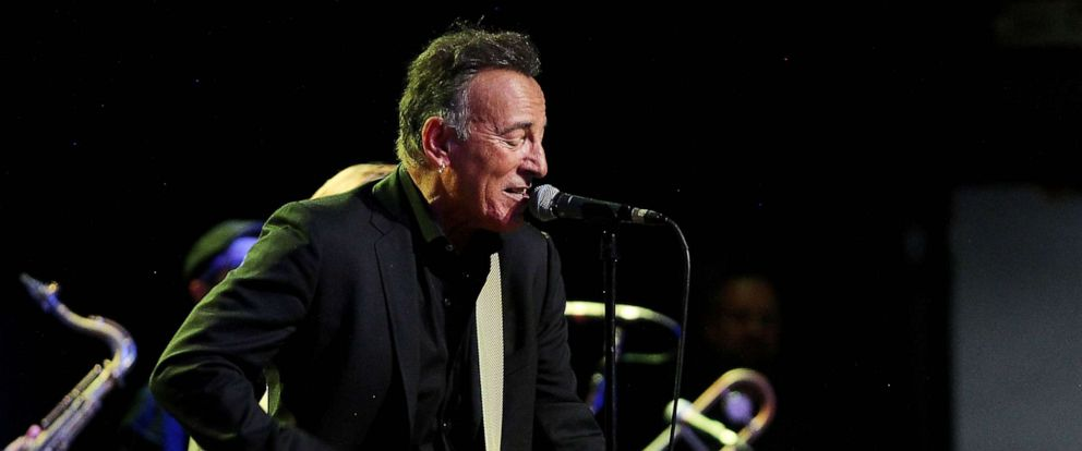 PHOTO: Bruce Springsteen playing guitar at New Line Cinemas Blinded By The Light film premiere After Party in New Jersey, Aug. 7, 2019.