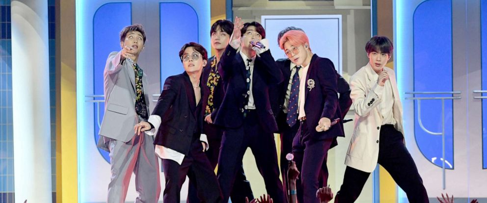 PHOTO: BTS perform onstage during the 2019 Billboard Music Awards at MGM Grand Garden Arena on May 1, 2019 in Las Vegas.
