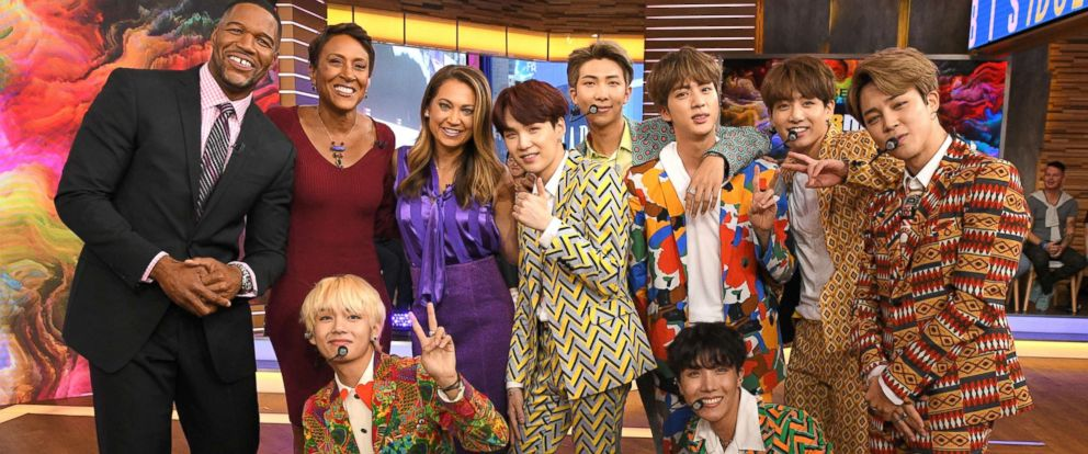 PHOTO: South Korean boy band BTS appears on ABCs Good Morning America.