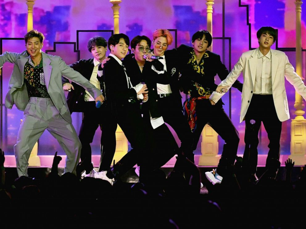 PHOTO: BTS perform onstage during the 2019 Billboard Music Awards at MGM Grand Garden Arena, May 1, 2019, in Las Vegas.