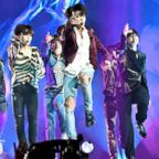 Musical group BTS perform onstage during the 2018 Billboard Music Awards at MGM Grand Garden Arena on May 20, 2018 in Las Vegas.