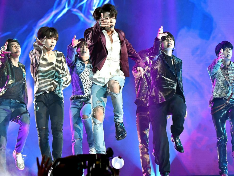 PHOTO: Musical group BTS perform onstage during the 2018 Billboard Music Awards at MGM Grand Garden Arena on May 20, 2018 in Las Vegas.