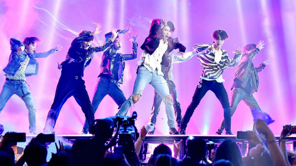 BTS performs onstage during the 2018 Billboard Music Awards at MGM Grand Garden Arena on May 20, 2018 in Las Vegas.