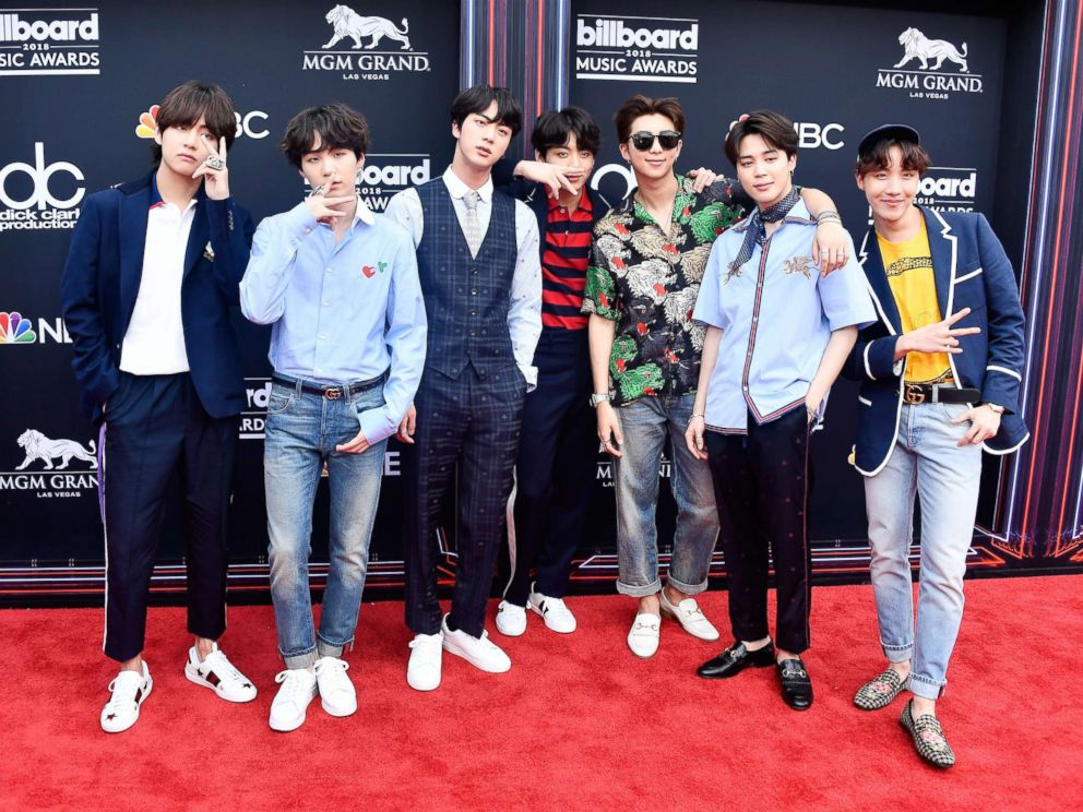 PHOTO: Musical group BTS attends the 2018 Billboard Music Awards at MGM Grand Garden Arena on May 20, 2018 in Las Vegas.