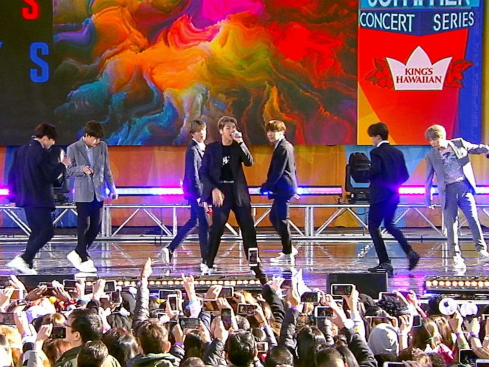 BTS Performs Live On The 2019 'Good Morning America' Summer Concert Series